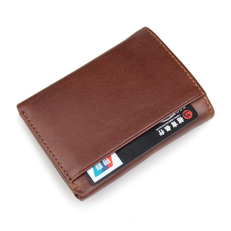 c91437146e5f US $21.6 |Aliexpress.com : Buy RFID Wallet Antitheft scanning leather  wallet Hasp Leisure Men's slim leather mini wallet case credit card Trifold  ...