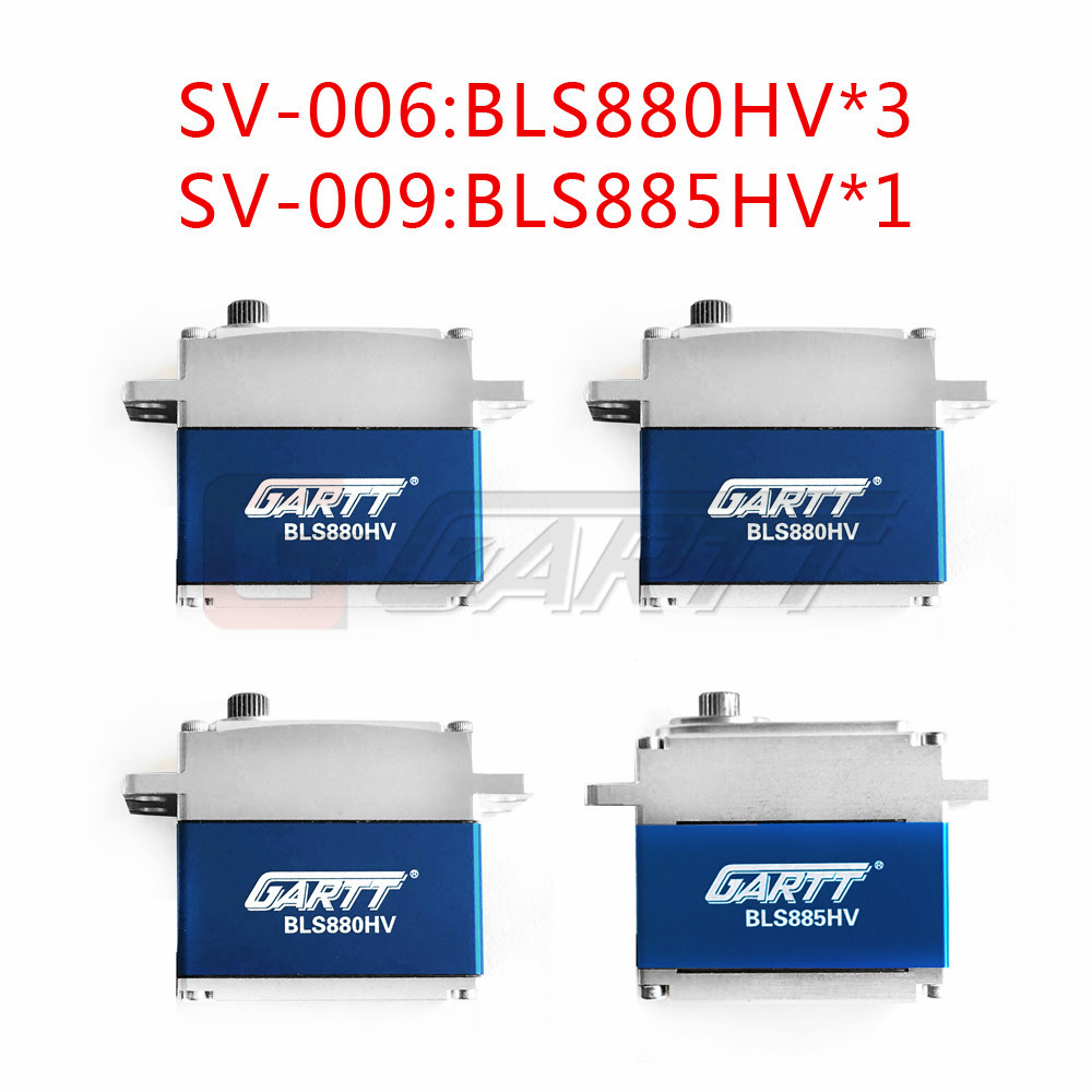 Freeshipping 3 X GARTT BLS880HV Cross plate high voltage Servo & 1 X BLS885 Lock Tail high voltage For 500 RC Helicopter