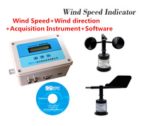 0 70m/s Wind speed indicator Online anemorumbometer Wind Speed+Wind direction+Acquisition instrument+Software Anemometer sensor