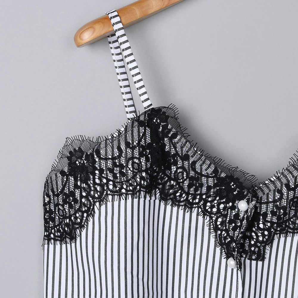 Blus Tee Renda Kaos Rompi Musim Panas 2019 Hot Sale Sexy Vest Fashion Kamisol Tanaman Top Tanpa Lengan T-shirt Tank top