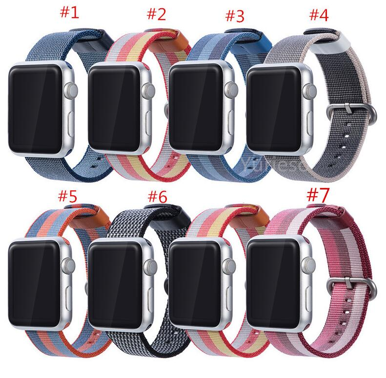 100Pcs/woven nylon band strap for Apple Watch Band 42mm 38mm 44mm 40mm watch 4 3 2 sport bracelet for apple watch 4 accessories