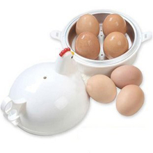 FHEAL Creative Chicken Shape Microwave Egg Poachers Egg Cooker Stainless Steel Boiler Steamer For 4 Eggs Egg Tool