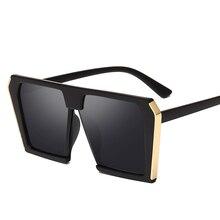 women men sunglasses retro OverSize square Anti UV brand des