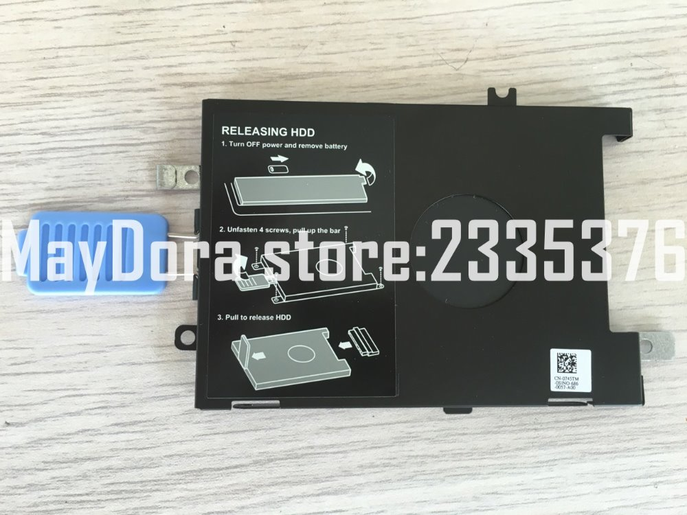 Helt nya originaldatordelar till Dell Precision 7510 7520 Hard Disk Drive HDD Caddy Bracket 0745TM 745TM
