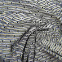 בד רשת רך צעיף קלאסי צרפתית באיכות גבוהה נקודה שקופה טול שמלת הערב סקסי מסתורי שחור בד נקי בד חם