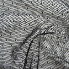 Классический французский вуаль мягкая сетка Ткань высокое качество прозрачный из тюля в горошек Чистая Ткань сексуальный таинственный черный вечернее платье ткань Лидер продаж