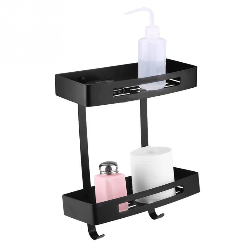 Comprar Rectángulo doble capas de ducha canasta de almacenamiento estante titular de la cocina baño Decoración de Estantes del cuarto de baño fiable proveedores en Zhuang Eric's Store