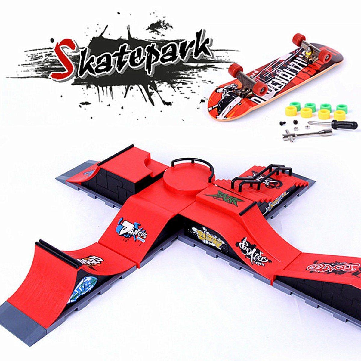 6 Tipi di Skate Park Rampa di Ricambio per Tech Deck Fingerboard Ultimate Parchi Di Compleanno Giocattolo Regali Per I Bambini