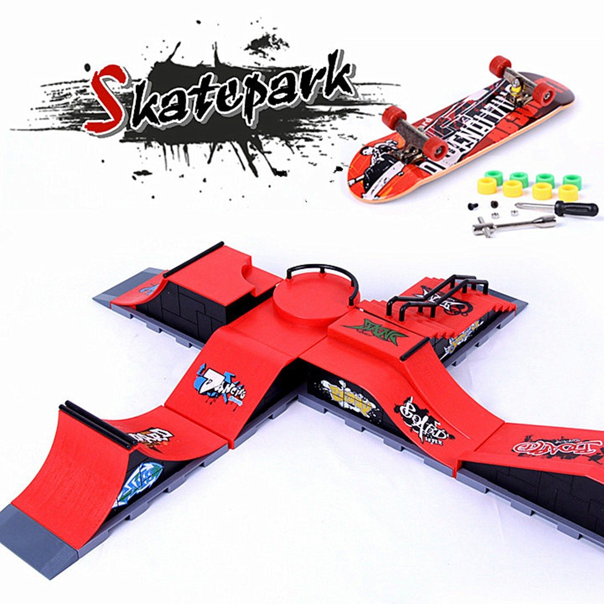 6 Types Skate Park Ramp Parts for Tech Deck Fingerboard Ultimate Parks Birthday Toy Gifts For Children цена