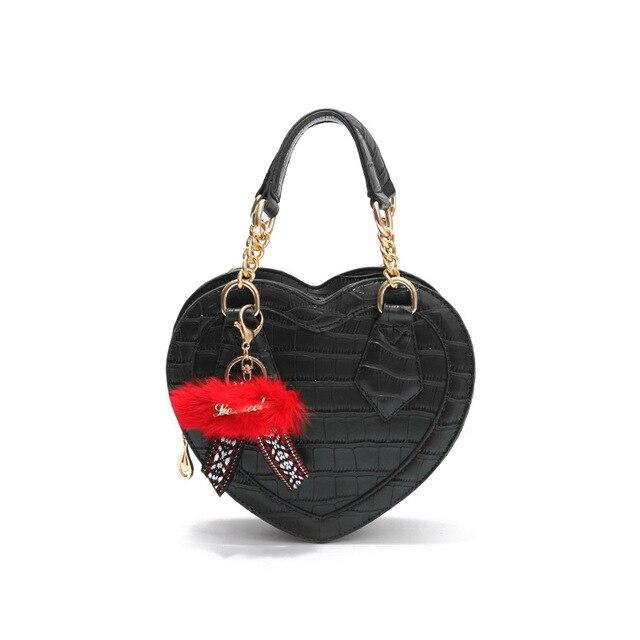 39906e776c 2018 New Women Sweet Wild Crossbody Bag Fashion Love Heart shape Handbag  Crocodile Pattern Shoulder Bag