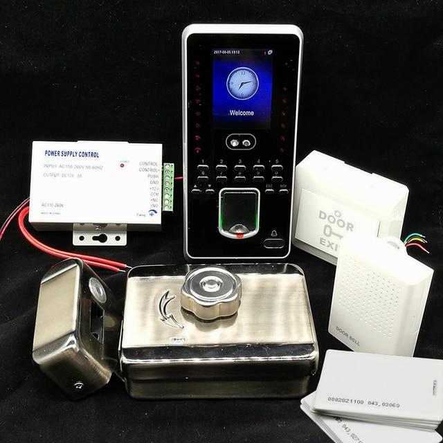 DIY Face Access Control System Kit Fingerprint & rfid Door Access Control Set Mute Rim Lock Biometric Face Access Controller