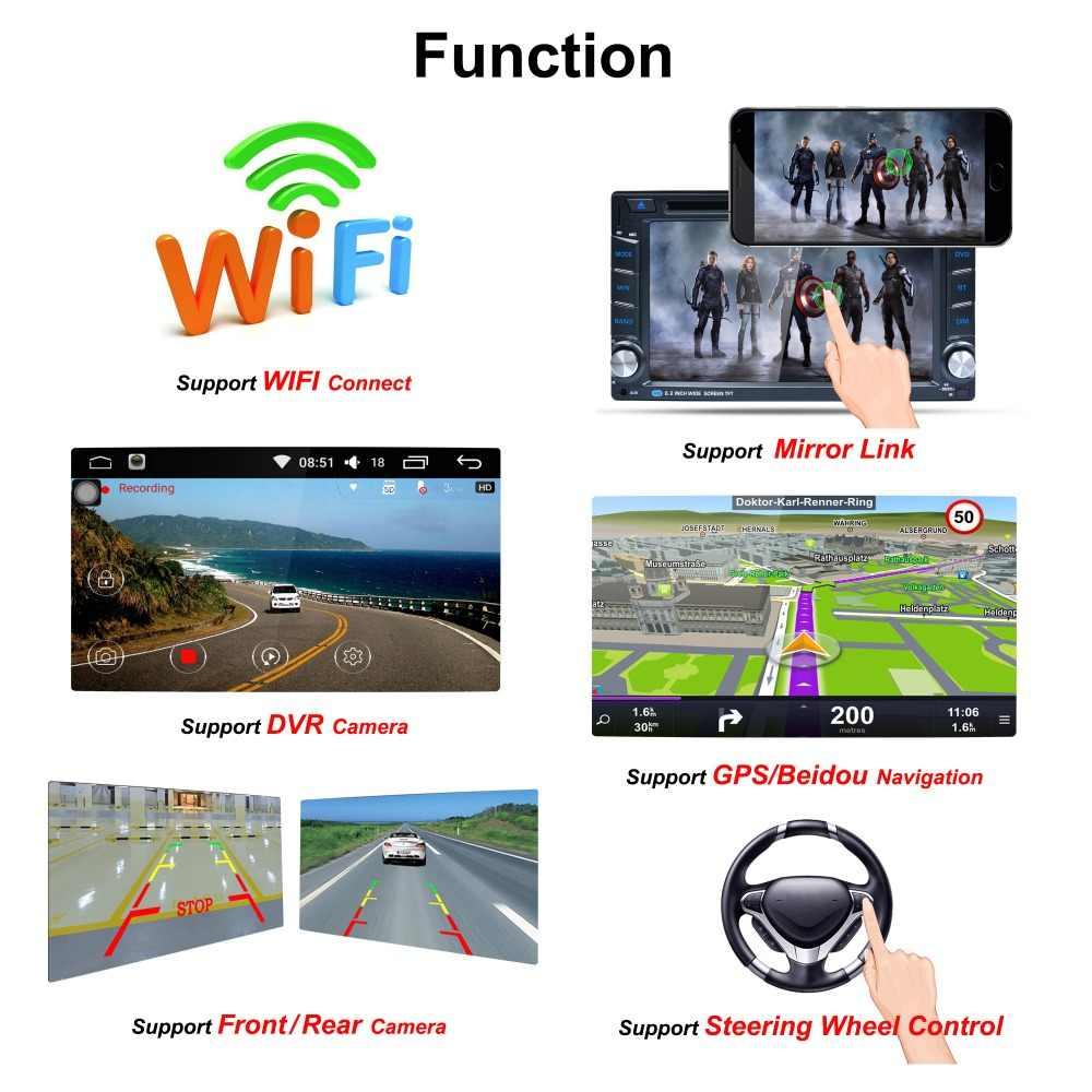 EANOP 2 Din Автомобильный dvd-плеер Android 6,0 MP4 mp5 плеер Авто 4 ядра 6,2 дюйма 800*480 Экран Поддержка Wi-Fi gps FM