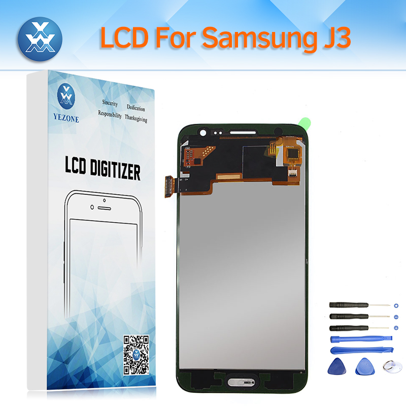 Régler la Luminosité LCD Écran pour Samsung Galaxy J3 2016 J320 SM-J320FN Écran lcd Tactile Digitizer Assemblée pour J320M J320A + outil