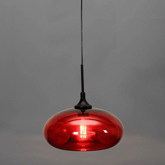 WILLIAM Modern Pendant light hanging lamp fixture Red Glass E26 ...