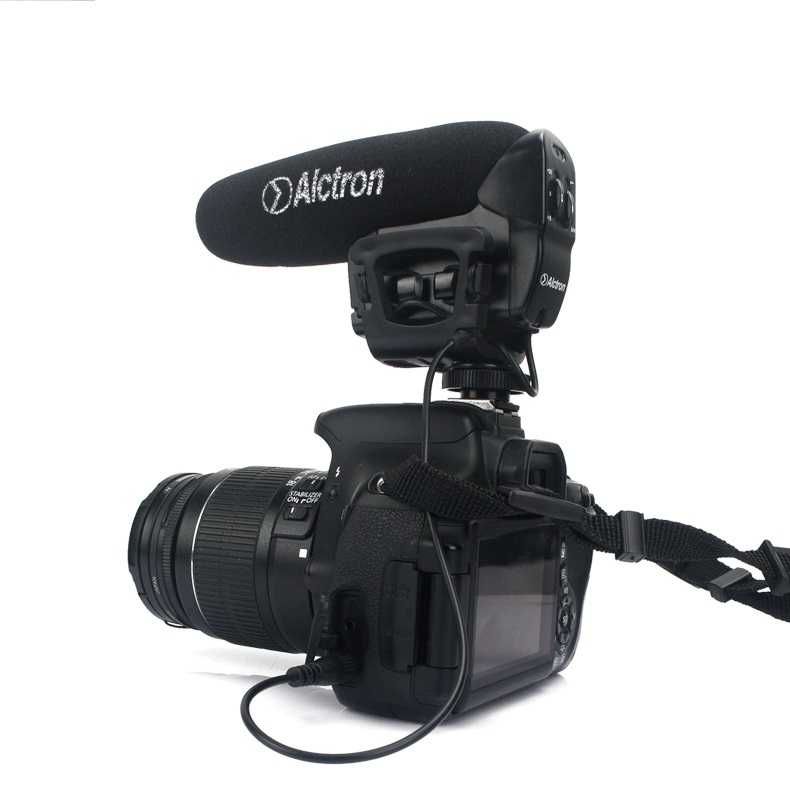 Alctron VM 6 SLR Camera DV microphone Shotgun external microphone condenser mic for interview