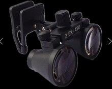Бесплатная доставка Ультра-Легкий 3.5×420 мм Хирургические лупы Стоматологическая лупы Бинокулярные лупы медицинская Лупа для человека с очки