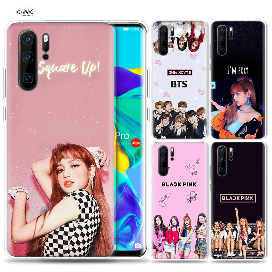 Case for Huawei P30 P20 P10 P9 Mate 10 20 Lite Pro Mobile Cell Phone Bag P Smart Z 2019 Plus Blackpink Black Pink Kpop Girls P8