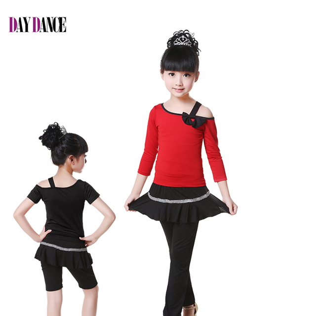 0cf2fd5800c0c Dzieci tańca towarzyskiego ubrania garnitur tanie dziecko zimno ramię  gimnastyka taniec nosić dziewczyny Latin praktyki kostiumy