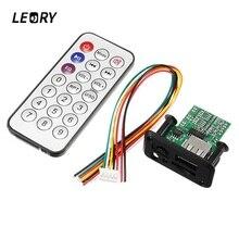 LEORY мини MP3 декодер доска 3 Вт 5 В с дистанционным управлением ЦАП проводной усилитель USB U диск TFCard Jack динамик аудио доска для MP3 WAV