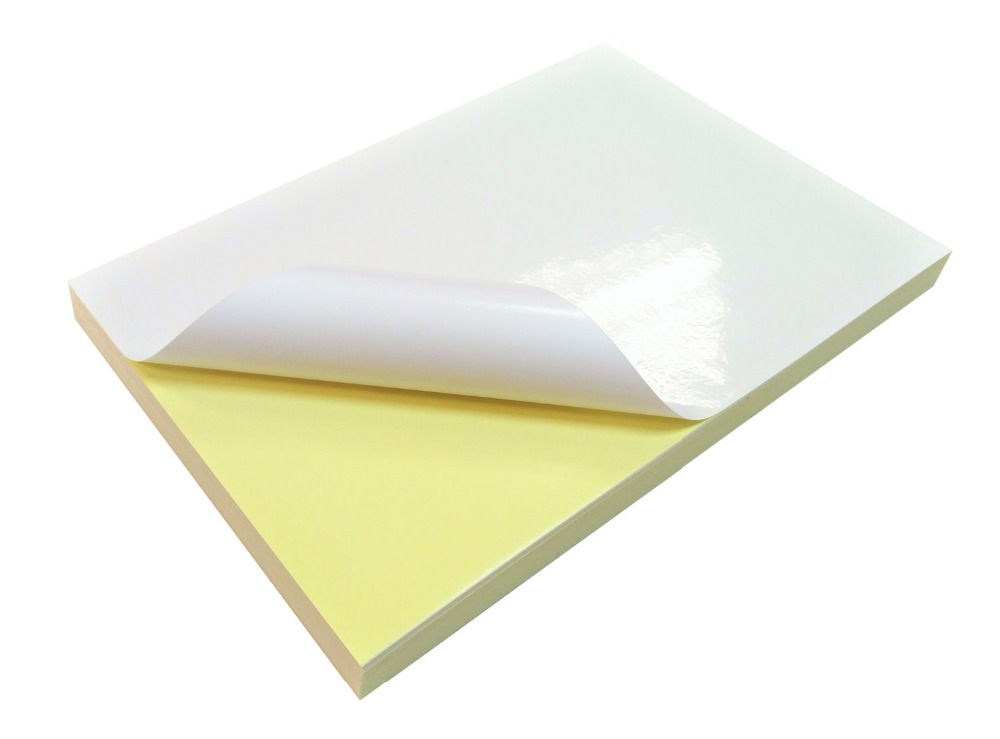 photograph relating to Printable Sticky Labels named A4 Shiny White Printable Self Adhesive Sticky Label Sticker Paper For Laser Printer 2/10/30/50/90 Sheets