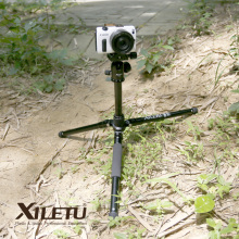 Free Shipping XILETU LM225+T-0 Portable Travel Tripod&Ball Head and Folded Length 265mm For Digital Mirrorless Camera