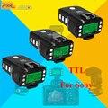Para sony mi cámara zapata ttl hss 1/8000 s disparador de flash transceptores pixel rey pro x3pcs para a7 a7r a7rii a6300 a65 a77ii RX10III