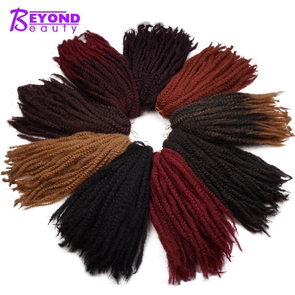 Marley Braids Hair Crochet Ombre Afro Kanekalon Synthetic Braiding Hair Crochet Braids Marley Twist Hair Beyond Beauty