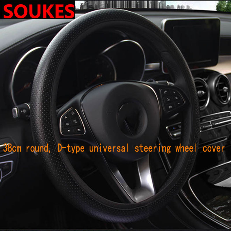 36 40CM Leather Automobiles Car Steering Wheel Covers For Honda Civic 2006 2011 Accord Fit CRV HRV City Jazz Subaru Forester in Steering Covers from Automobiles Motorcycles