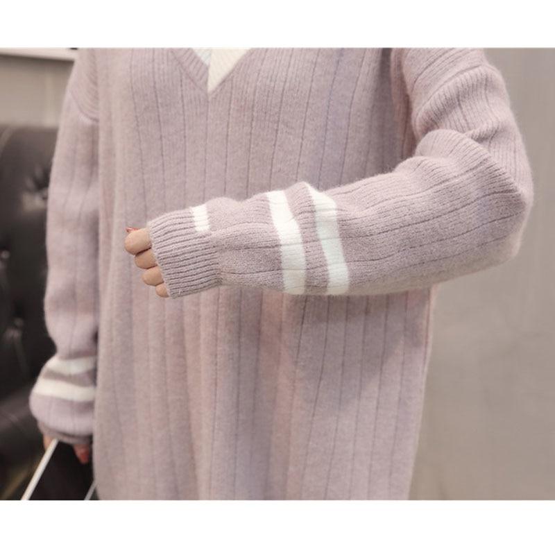 Lâche Pulls pink Col Mi Longues Tricoté À Doux Tops Casual blue Chandail Hiver longueur Beige V Vêtements Femmes Sexy Automne Jumper Manches 5v4qWfFnz1