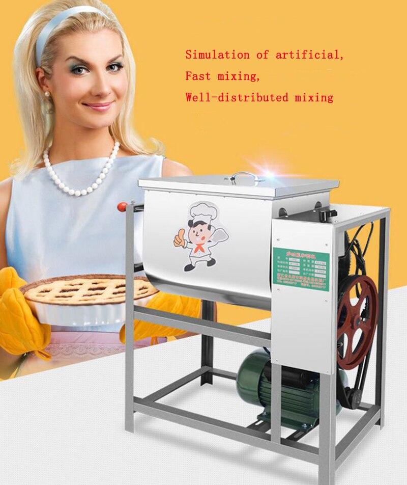 Mélangeur électrique automatique Commercial de pâte de 220 V 5 kg, 15 kg, mélangeur de farine de 25 kg mélangeant le pétrissage de pâte de machine de pâtes 1 PC