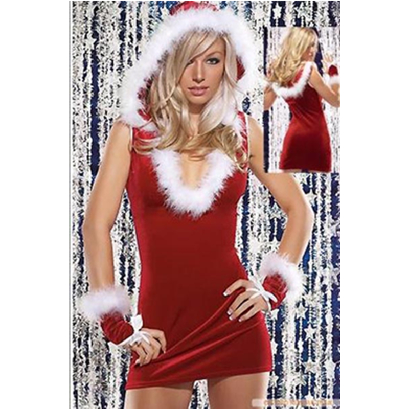 Keep You Satisfied Christmas Character Costume Wholesale Cosplay Christmas Costume 2015 Hot Sale Christmas Lingerie L7037