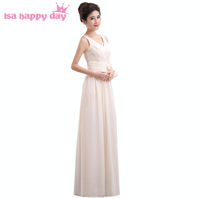 2017 New Arrival Formal Fitted Long Beautiful Elegant Champagne