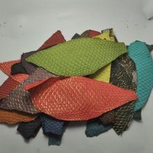 1pcs Colorful Genuine Salmon fish skin leather piece multi color DIY bag belt shoes accessories 25x10cm