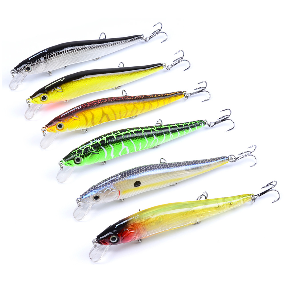 1PC Minnow Wobbler Crankbaits Fishing Lures Hard ABS Artificial Bass Baits With Hooks 3D Printing Pesca in Fishing Lures from Sports Entertainment