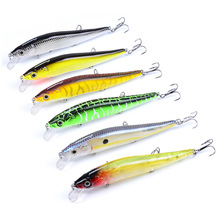 1PC Minnow Wobbler Crankbaits Fishing Lures Hard ABS Artificial Bass Baits With Hooks 3D Printing Pesca 4pcs lot fishing lures wobbler tackle sequin spoon wobble spinner baits crankbait bass with feather hooks pesca isca artificial
