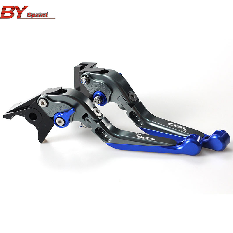 For HONDA CBR 1000RR CBR1000RR 2008 2016 CNC Motorcycle Accessories Folding Extendable Brake Clutch Levers Logo