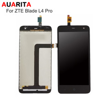 AAA Quality 1pcs Lot Lcd Black White LCD For ZTE Blade L4 Pro LCD Display Touch