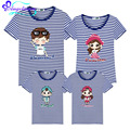 Family Look Father Son Matching Clothes Striped Mother Daughter Outfits 8 Styles Family Tshirt Short Sleeve Family Clothing