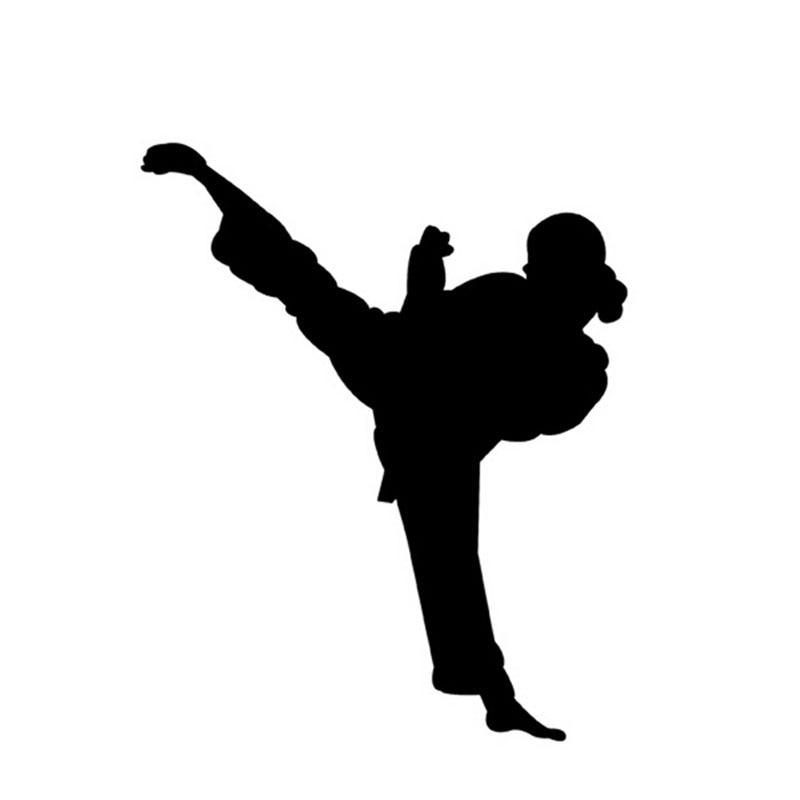 13*16CM Chinese Kung Fu Master Legend Female Car Stickers Karate Window Decoration Car Decals C2-0066