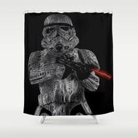 Star War Organic Dark Side Series White Shower Curtain with Hooks Doormat Bath Floor Mat Bathroom Home Decor