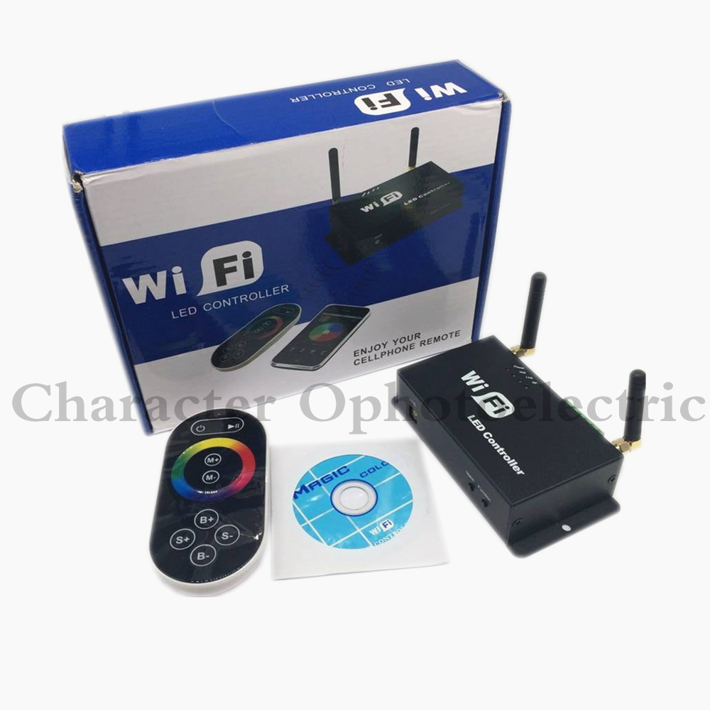 LED contrôleur rvb DC5v ~ 24 v WiFi 100 sans fil tactile Android IOS Smartphone à distance 12 v wifi RF RGB LED de contrôle