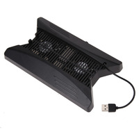 Vertical Stand Game Console Cooling Fan With 3 USB HUB 2 Fans Temperature Control Cooler For