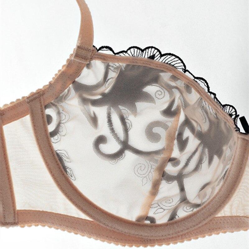 5e4b4d9dcc517 US $11.49 50% OFF|CYHWR Transparent unterwäsche frauen set durchsichtig bh  set sexy spitze dessous stickerei brasier 3/4 tasse aushöhlen ...