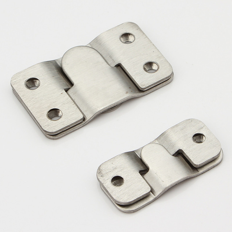 2pcs 54mm/43mm Furniture Connecting Piece Hanging Buckle Iron Bed Hanging Hook Buckle Iron Mirror Frame Insert Fittings