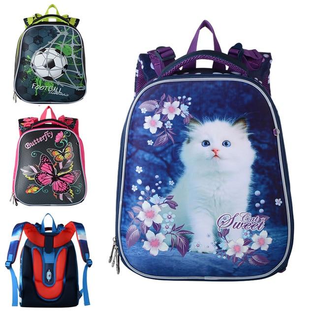 Children s Backpack Nylon EVA School Bags Orthopedic Kids Satchel Girls Cartoon Cars School Backpacks Boys