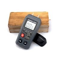 EMT01 0 99.9% Two Pins Digital Wood Moisture Meter Wood Humidity Tester Hygrometer Timber Damp Detector Large LCD Display|Moisture Meters| |  -