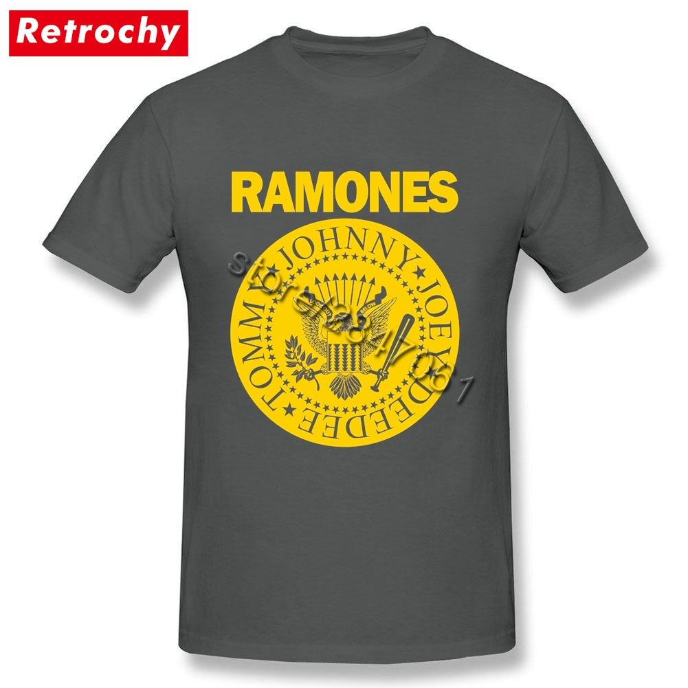 Design t shirt cheap uk - Vintage Handsome Ramones Logo T Shirt Mens Brand Designer Uk Band Tee Short Sleeves Male T