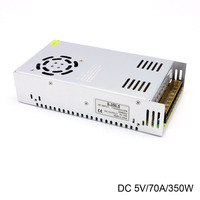 AC Input 110/220V by switch to DC Constant 5V 70A 350W Led Display Professional Transformer Power Supply