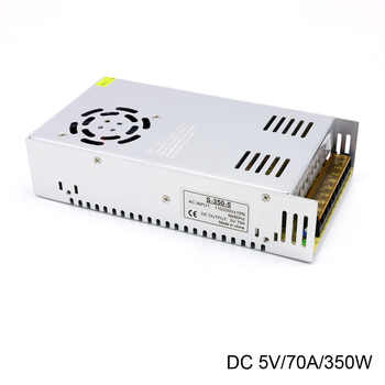 AC di Ingresso 110/220 v da interruttore a DC Costante 5 v 70A 350 w Display A Led Professionale Trasformatore di Alimentazione