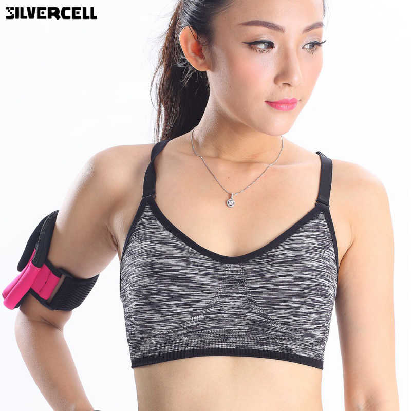 84741d9d62 ... Adjustable Spaghetti Straps Women Fitness Bra Shakeproof Stretch  brassiere Push Up Bras Top Seamless Padded Vest ...